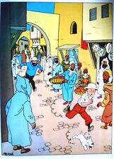 TINTIN 21 POSTERS NEUFS INÉDITS  40 x 30 cm-ALBUM COMPLET  - CASTERMAN 1986