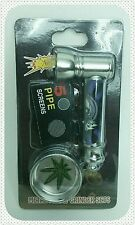 Shisha Abu Hookah Mini Herbal Molasses Metal Pipe & Herb Grinder-Perfect Gift