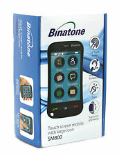 "Binatone NERO 3,5 ""LCD Senior Touch Screen Mobile con icone di grandi dimensioni [ SM800 ]"