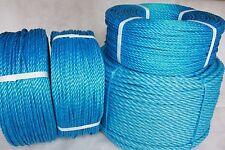8mm Blu Polipropilene/Nylon Corda fai da te, Giardino & MARINE USO compralo subito disponibile