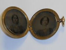 VINTAGE LARGE VICTORIAN GOLD FILLED LOCKET 1860's (3ZR)