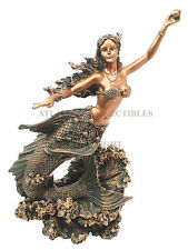 Ocean Mermaid Maiden Holding Pearl Figurine Sirens Of The Seas Coral Reef Decor