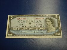 1954 Canadian $5 bill - five dollar note High Grade - IS2875328