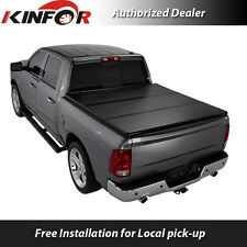 Premium Solid Tri-Folding Tonneau Cover for 2009-2016 Dodge Ram 6.5' Short Bed