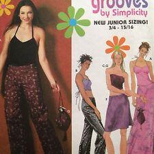 Simplicity Teen Pattern 9472 Pants Skirt Halter Corset Bustier Juniors 3/4-9/10