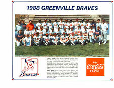 1988 GREENVILLE BRAVES 8X10 TEAM PHOTO ATLANTA BASEBALL