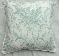 Laura Ashley  Tuileries duck egg fabric Cushion Cover  piped 16""