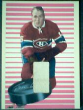 HENRI RICHARD   AUTHENTIC VINTAGE PIECE OF GAME-USED JERSEY /90  SP