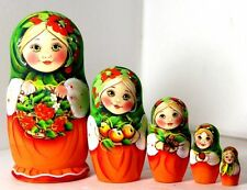 Russian Doll Alina and ashberry  5PC 14cm Nesting Doll Matryoshka