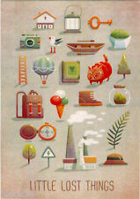 Modern Russian card LITTLE LOST THINGS Different items that we had or wanted...