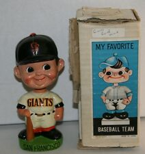 RARE 1960's San Francisco Giants Green Base Vintage Bobble Head Nodder