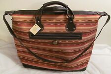 NWT Antigua Guatemala XL Leather & Cloth Women's Weekend Bag Luggage Multicolor