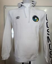 NEW YORK COSMOS WHITE HOODY BY UMBRO ADULTS SIZE SMALL BRAND NEW WITH TAGS