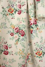 Vintage French floral fabric c1940's printed cotton sweet design