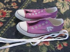 Mens 9.5 Campus Footnote K State Kansas Wildcat shoes purple sports team UNISEX