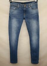 NUDIE MENS JEANS TIGHT LONG JOHN ORG.LIGHT FADED  made in ITALY size W32 L34