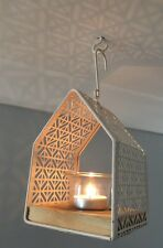 Decorative Cream Hanging Metal Lantern Tealight Holder Garden Wedding Gift