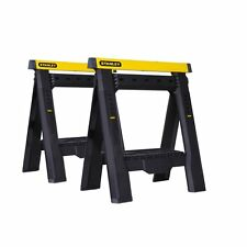 Stanley Portable Folding Adjustable Sawhorse 2-Pack STST60626 NEW