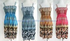 wholesale lot of 4 vintage paisley summer short dress beach sundress