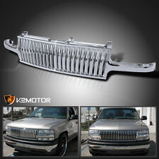 1999-2002 Chevy Silverado 00-06 Tahoe Suburban Chrome Vertical Hood Grill Grille