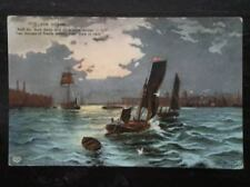 POSTCARD SAILING VESSELS THE OCEAN - POEM BYRON