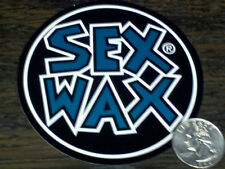 "Green SEX WAX Surf Sticker MR ZOGS Car Decal 3-1/2"" Round Window Vinyl 9 cm"