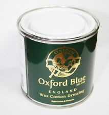 Oxford Blue Wax For Re waxing Jackets and all Cotton 200ML Tin £9.99 FREE POST
