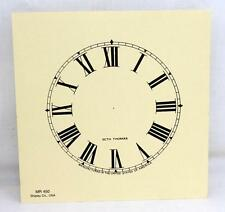 Seth Thomas Clock Co. Paper Clock Face Dial  Shipley Co. USA MR 450 4.5""
