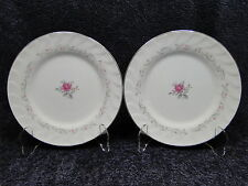 "Fine China of Japan Royal Swirl Salad Plate 7 5/8"" TWO EXCELLENT!"