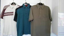 3 vtg gold shirts Farah Tootal & ultimate classics polo shirt large casuals mod