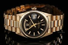 Rolex Yellow Gold Day-Date President 1803, Black Index on a Presidential Band