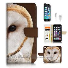 iPhone 6 6S Plus (5.5') Flip Wallet Case Cover P3353 Cool Owl