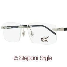 Montblanc Rimless Eyeglasses MB580 016 Size: 58mm Palladium/Black 580