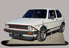 MINIATURE, MODEL CARS, VOLKSWAGEN GOLF-04-GTI EN HORLOGE
