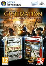 Sid Meier's Civilization  3 III and 4 IV Complete Edition PC Brand New Sealed