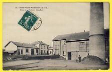 cpa 49 - St PIERRE MONTLIMART Mines de la BELLIÈRE CHAUFFERIE Haut Fourneau