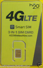 H20 H2O WIRELESS ALL IN ONE SIM CARD WORKS ON AT&T NETWORK