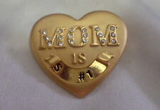 """PERFECT GIFT FOR MOM HEART W/RHINESTONES """" SLIDE W, """"THE BOSS""""  OR & #1"""