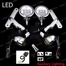 LED Auxiliary Brackets Lighting&Turn Signals For Harley Street Glide FLHX 14-17
