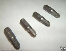 "4 CHROME VANADIUM PHILLIPS PHILIPS No 3 SCREWDRIVER BITS ¼"" HEX PH3 CrV 25mm 1"""