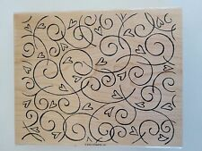 NEW-STAMPIN'UP! 2002 Wood Mounted Rubber Stamp_SOFT SWIRLS BACKGROUND-LOT #213