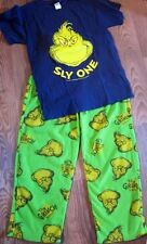 Sly One Dr. Seuss Mr. Grinch Non Footed Pajamas 2 PC Set S LAST ONE