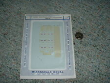 Microscale decals N 60-808 Great Northern RS-1 Locomotives 1944-60  D55