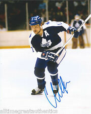 TORONTO MAPLE LEAFS WENDEL CLARK SIGNED 8X10 PHOTO W/COA WENDELL VINTAGE C