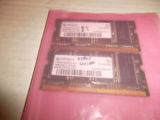 used pair 256mb pc2700s ram chips from Hp Pavillion DV1000 DV1227us 512mb total