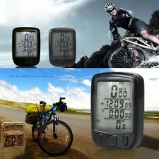 Bicycle Bike Cycling Computer LCD Odometer Speedometer Stopwatch Speed meter