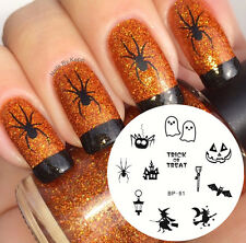 BORN PRETTY Nail Art Stamping Plate Halloween Witch Image Stamp Template BP81