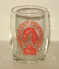 Coors Barrel Beer Glass