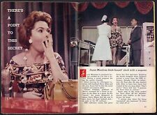 1958 TV ARTICLE~JAYNE MEADOWS gets TYPHOID SHOW ON THE SET~NURSE DOROTHY FRALIC