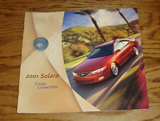 Original 2001 Toyota Solara Coupe Convertible Sales Brochure 01